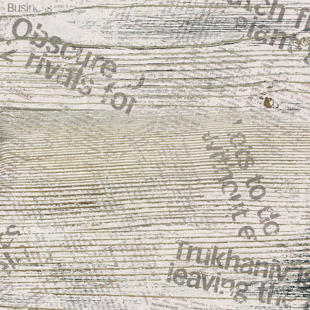 articles: Grunge background with wood and newspaper pattern