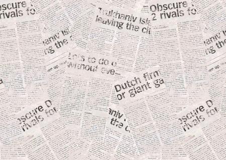 Vintage newspaper pattern. Aged newspaper background Stock Photo