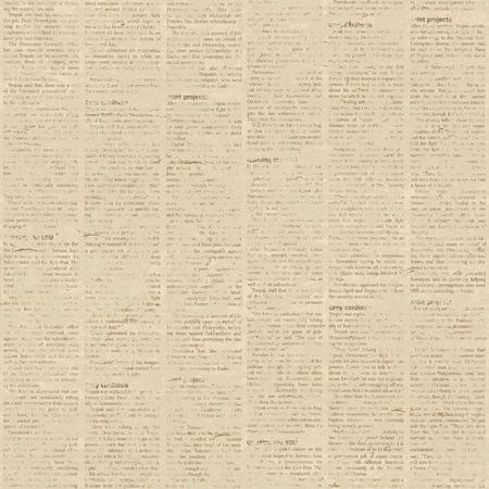 古い紙新聞グランジ背景。シームレス パターン