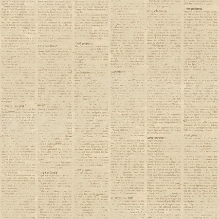Old paper newspaper grunge background. Seamless pattern