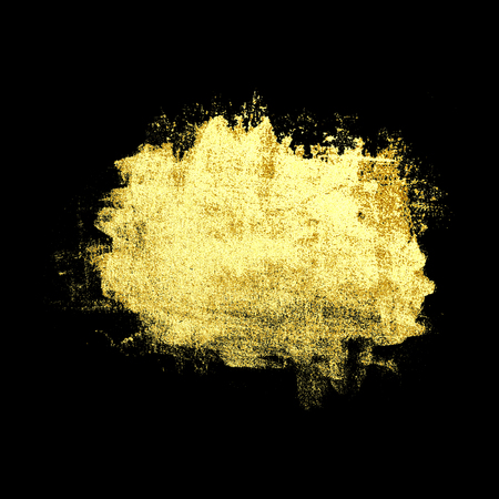 Abstract luxury golden stain, isolated on black background. Gold metal texture. Concept of Wedding, Holiday, Birthday, Christmas.