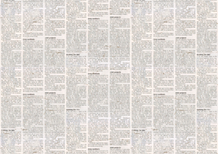 Old newspaper paper texture background. Blurred vintage newspaper background. Aged paper textured page. Gray collage news paper background. Stock Photo - 96960615