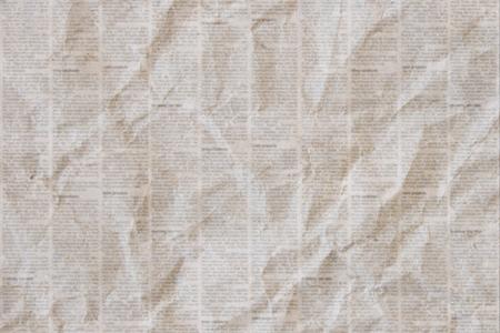 Alter zerknitterter grunge Zeitungspapier-Beschaffenheitshintergrund.