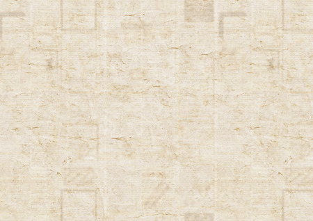 Old grunge newspaper paper texture background. Blurred vintage newspaper background. Scratched paper textured page with place for text or image. Gray brown beige collage news paper background. Standard-Bild