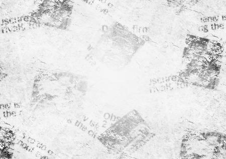 Old grunge newspaper collage paper texture horizontal background. Blurred vintage newspaper background. Scratched paper textured page. Space for text or image. Gray white collage news paper background