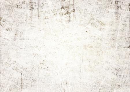 Fondo de textura de papel de periódico grunge vintage. Fondo de periódico viejo borroso. Una página borrosa de un periódico envejecido ilegible con lugar para el texto. Fondo de páginas de noticias de collage beige marrón gris. Ilustración de vector