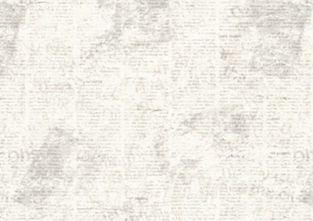 Old grunge newspaper collage horizontal background. Unreadable vintage news pattern. Scratched paper textured page. Sepia white newsprint texture.