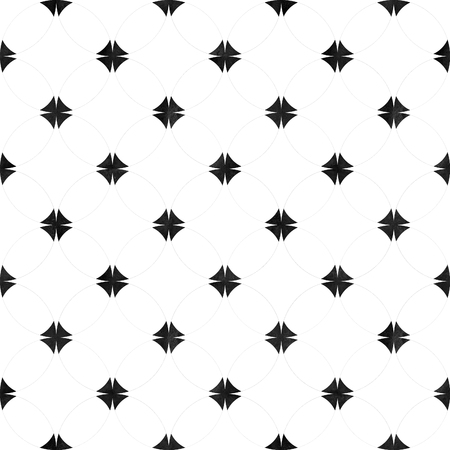 Abstract seamless pattern. Black and white minimalist monochrome watercolor artwork with simple shapes and figures. Watercolour geometric shaped texture. Print for textile, wallpaper, wrapping.