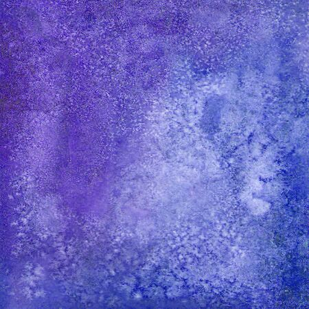 Watercolor grunge purple blue colorful background. Watercolour hand painted illustration. Banner frame backdrop splash design. Grunge color cover. Space for logo, text Stock Photo