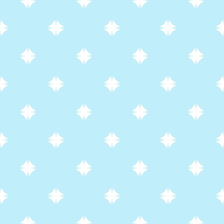Abstract geometric blue and white seamless pattern. White texture on light blue background. Print for textile, wallpaper, wrapping, packaging.