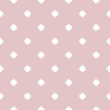 Abstract geometric pink and white seamless pattern. White texture on pastel background. Print for textile, wallpaper, wrapping, packaging.