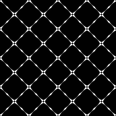 Stripe grunge plaid halftone black and white seamless texture. Striped background. Abstract geometric diagonal overlapping stripes illustration pattern.