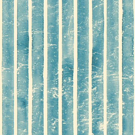 Vintage paper. Watercolor stripe seamless pattern. Teal blue stripes background. Watercolour hand drawn striped old grunge texture. Print for cloth design, textile, fabric, wallpaper, wrapping.