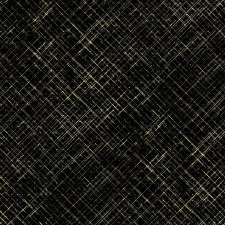 Gold seamless pattern. Striped grunge plaid black and yellow golden texture background. Abstract geometric diagonal overlapping stripe illustration. Print for textile, wallpaper, wrapping paper. Stock fotó