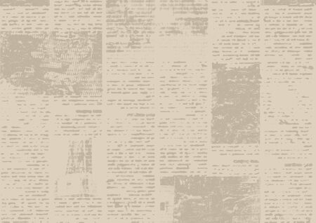 Old grunge newspaper paper textured background. Blurred vintage newspapers texture background. Blur unreadable aged news horizontal page with place for text, images. Sepia brown collage. Stock fotó