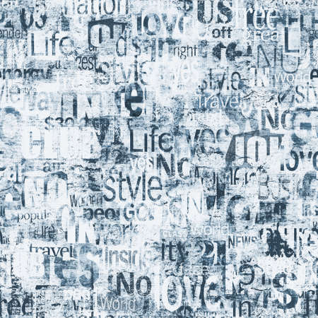 Abstract grunge urban words, letters seamless pattern.