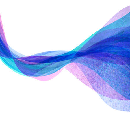 Watercolor transparent wave purple lavender teal blue color background. Watercolor hand painted waves illustration. Banner frame backdrop isolated on white. Grunge color cover. Space for logo, text 写真素材