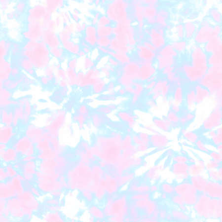 Tie dye shibori seamless pattern. Watercolor hand drawn pastel colors ornamental elements background. Watercolor colorful abstract texture. Print for textile, fabric, wallpaper, wrapping paper.