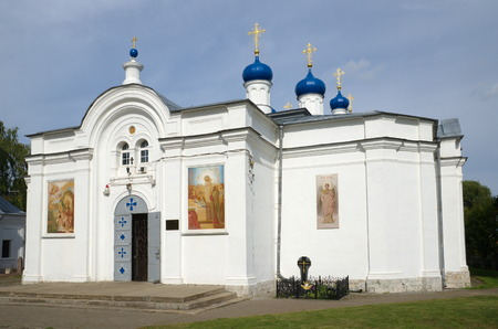 blessed trinity: Church of the assumption blessed virgin in the village of Zavidovo, Tver region