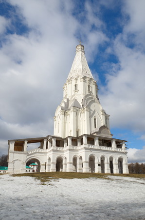 ascension: Moscow, Russia - March 13, 2016: The Museum-reserve Kolomenskoye. Church Of The Ascension Editorial