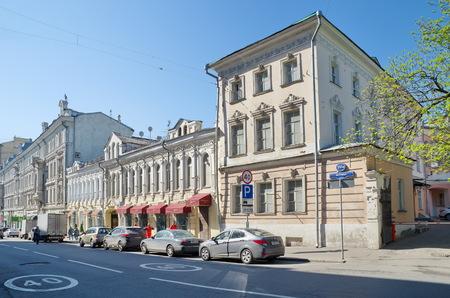 historical building: Moscow, Russia - may 6, 2016: Vintage estate Kiriakovich - Tatischeva, Petrovka street, 2310