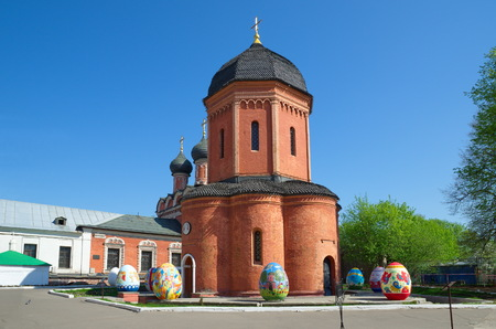 petrovka: Moscow, Russia - may 6, 2016: Vysoko-Petrovskiy monastery, Moscow, street Petrovka, 28. Cathedral of St. Peter, Metropolitan of Moscow Editorial