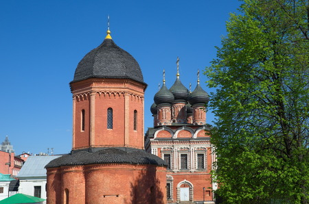 petrovka: Vysoko-Petrovskiy monastery, Moscow, street Petrovka, 28. Cathedral of St. Peter, Metropolitan of Moscow and the Church in honor of the Bogolyubsky icon of the Mother of God, Russia