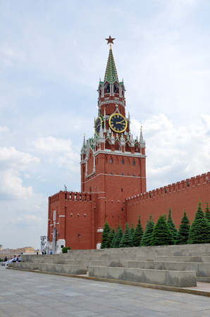 spasskaya: Moscow, Russia - may 27, 2016: Spasskaya tower of the Moscow Kremlin, Moscow, Russia
