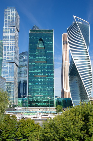 Moscow, Russia - August 26, 2016: Moscow international business center Moscow-city