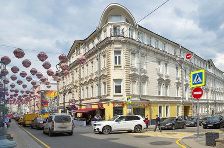 voronezh: Moscow, Russia - may 27, 2016: Historical building on Bolshaya Dmitrovka street