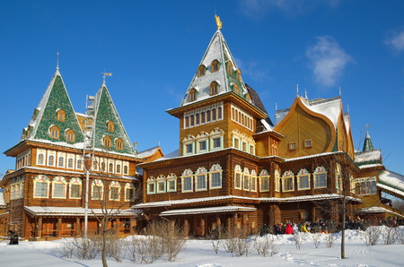 tsar: Moscow, Russia - January 25, 2017: The Palace of Tsar Alexei Mikhailovich in Kolomenskoye