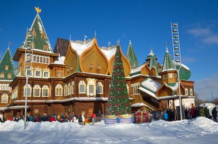 Moscow, Russia - January 25, 2017: The Palace of Tsar Alexei Mikhailovich in Kolomenskoye