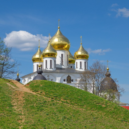 Domes of the theoretical cathedral of the Dmitrov Kremlin, Dmitrov, Moscow region, Russia