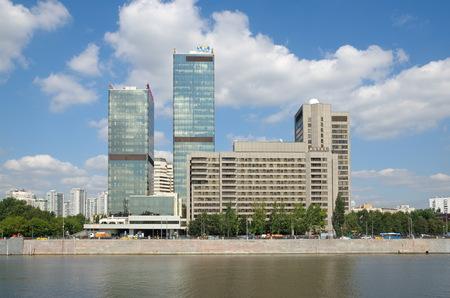 Moscow, Russia - August 10, 2017: International Trade Center on Krasnopresnenskaya embankment