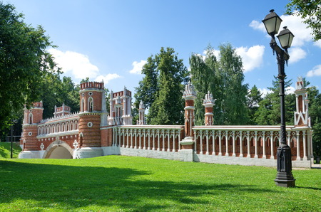 Moscow, Russia - August 9, 2017: Tsaritsyno in the State Historical-architectural Museum-reserve