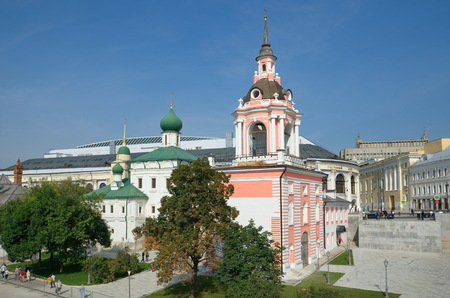 The Bell Tower of the former Znamensky monastery on Varvarka, Moscow, Russia