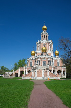 Church of the Intercession of the Virgin in Fili, Moscow, Russia. Built in 1690-1694 Stock Photo
