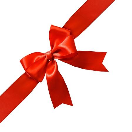 nudos: Arco de gran fiesta roja sobre fondo blanco  Foto de archivo