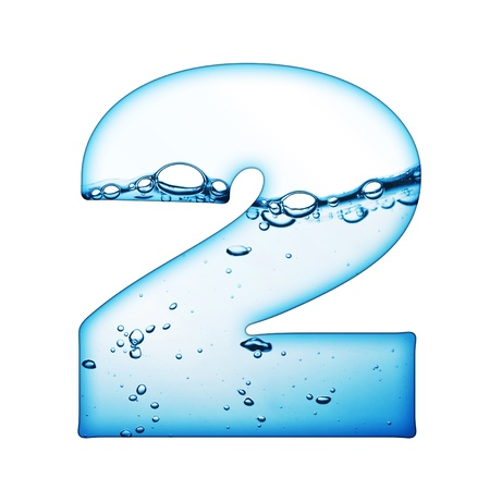 conceptual symbol: One letter of water wave alphabet  Stock Photo