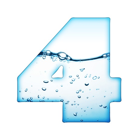 ink water: One letter of water wave alphabet  Stock Photo