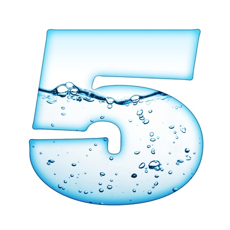 One letter of water wave alphabet Stock Photo - 8351027