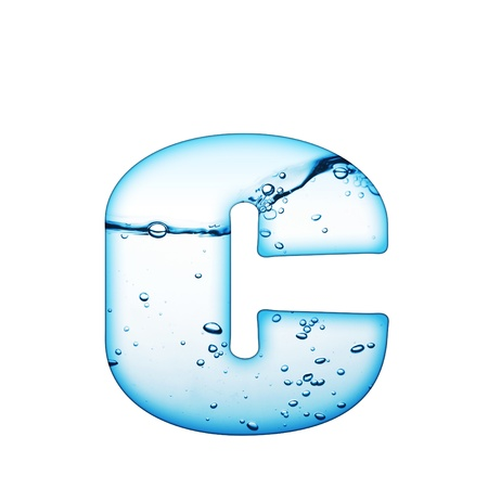 One letter of water wave alphabet  Stock Photo - 8351012