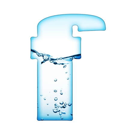 One letter of water wave alphabet Stock Photo - 8350996
