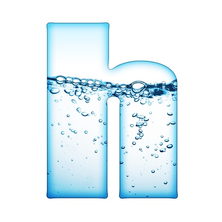 aqua effect: One letter of water wave alphabet  Stock Photo