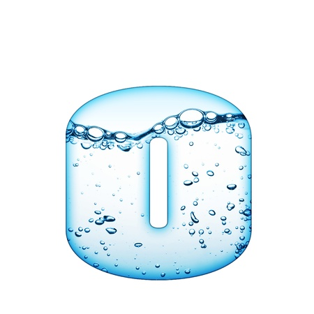 One letter of water wave alphabet Stock Photo - 8351017