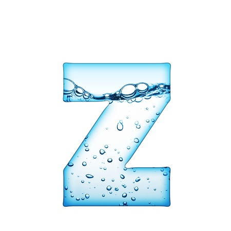 ripple effect: One letter of water wave alphabet  Stock Photo