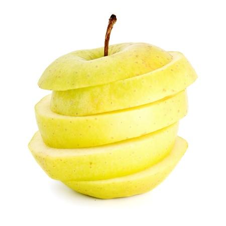manzanas en rodajas aisladas sobre fondo blanco Foto de archivo - 8351135