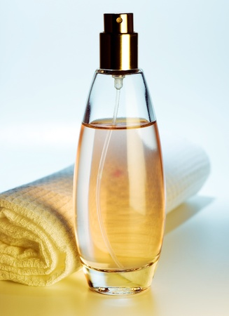 traquility: bottle of perfume Stock Photo