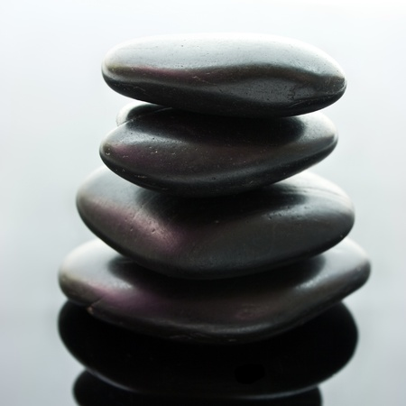 Spa stones stacked in perfect balance  photo