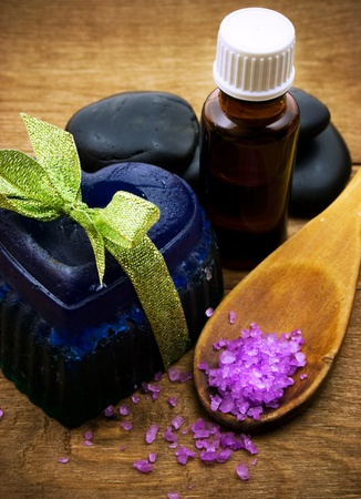 spa and body care composition background  photo